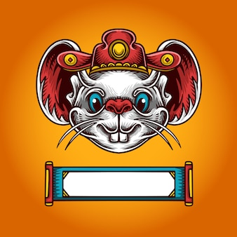 Chinese new year mouse illustration