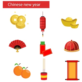 Chinese new year objects