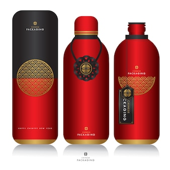 Chinese new year template and packaging design