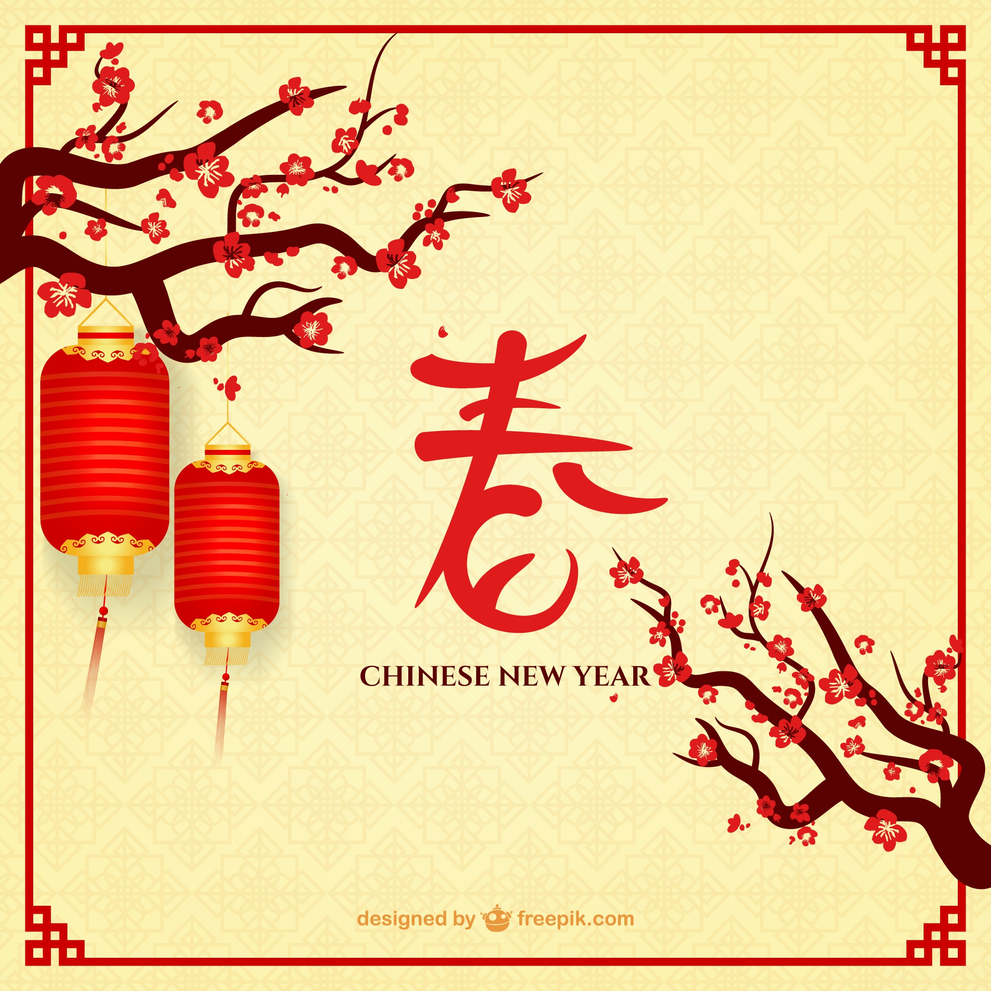 Chinese New Year with lamps