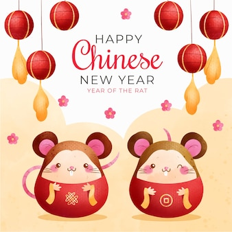 Chinese new year with mice