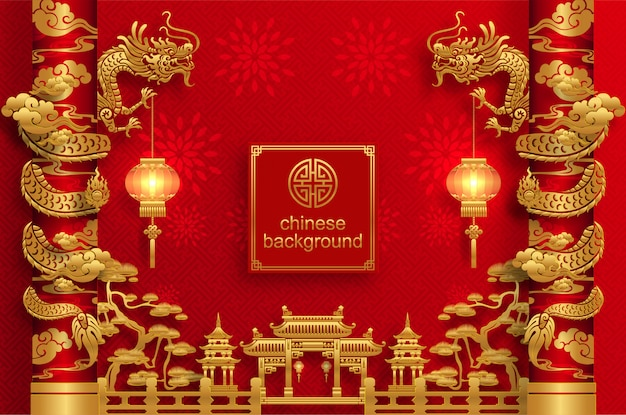 Chinese oriental wedding background5100