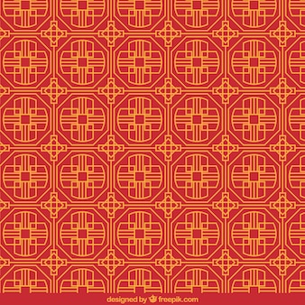 Chinese pattern in geometric style