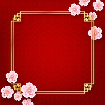 Chinese plum blossom flower traddintional art style