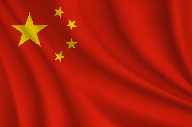 Chinese realistic wavy flag