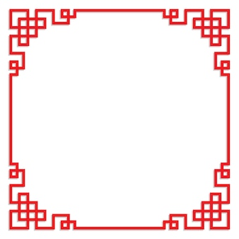 Chinese red frame with copy space