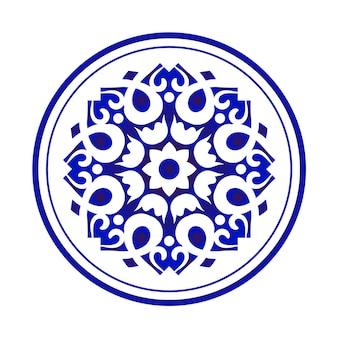 Chinese round pattern