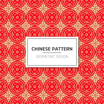 Chinese seamless pattern. vector background red ornament. decoration with traditional chin