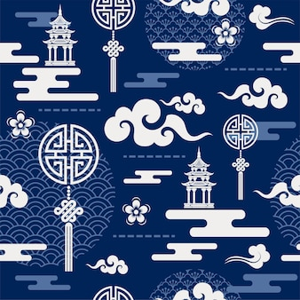 Chinese seamless pattern .
