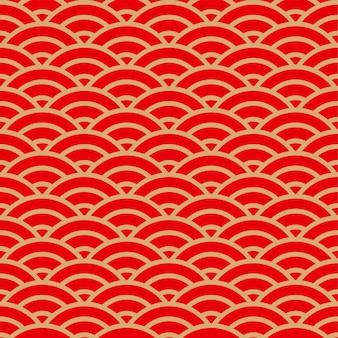 中国の半円の重なり合うパターン