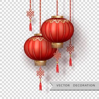 새해 복 많이 받으세요 중국 실크 등불