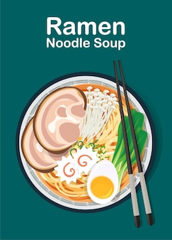 국수와 중국 수프, 일본라면