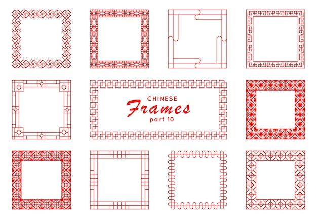 Китайская квадратная рамка в винтажном стиле