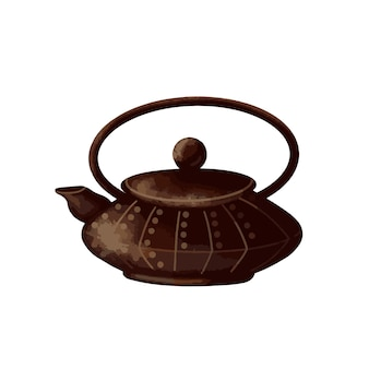 Chinese teapot on a white background vector illustration