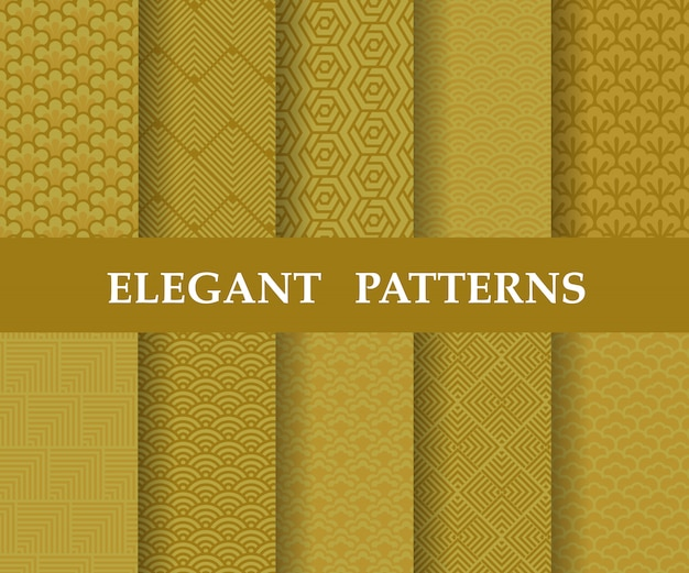 Chinese texture pattern set,