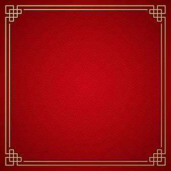 Китайский традиционный фон с золотой рамой