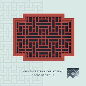 Китайская оконная ажурная крестообразная рамка из прямоугольного цветка