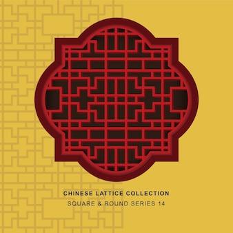 크로스 기하학의 중국 창 트레이 서리 사각 라운드 프레임