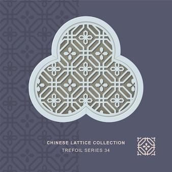 팔각형 꽃의 중국 창 트레이 서리 개미 자리의 프레임