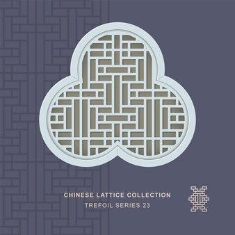 직사각형 꽃의 중국 창 트레이 서리 세 포일 프레임