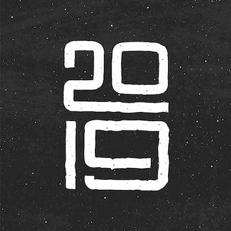 豚2019年の中国の年。新年カードデザイン