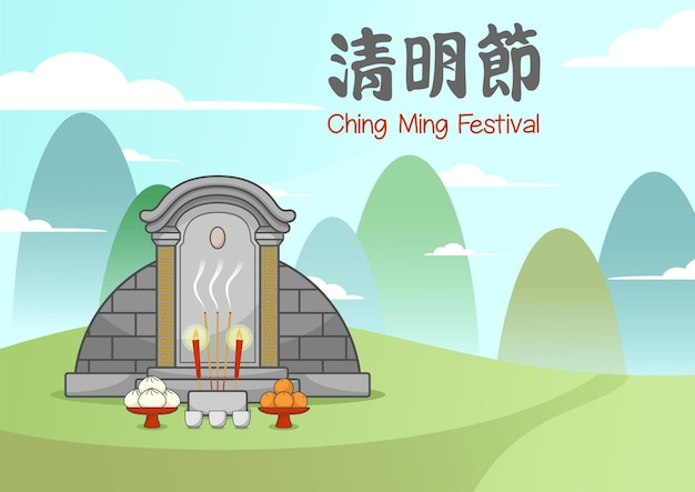 Ching ming festival chinese tomb
