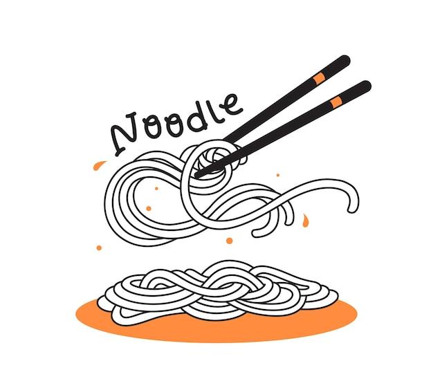Chinnese noodle ramen pasta doodle