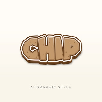 Chip graphic style