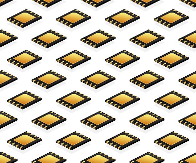 チップ マザーボードのシームレス パターン