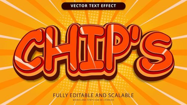 Редактируемый файл eps с текстовым эффектом чипа
