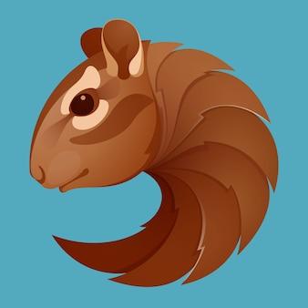 Объемный логотип бурундук. элементы шаблона дизайна животных для вашего фирменного стиля или брендинга спортивной команды.