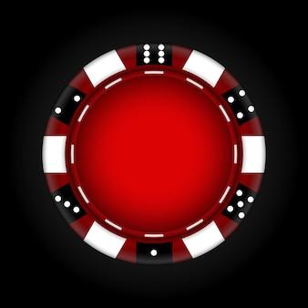 Фишки для казино. азартные игры. иллюстрация.