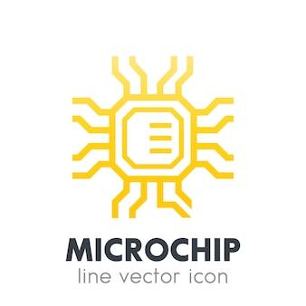 칩셋, 화이트에 마이크로칩 아이콘