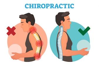 Chiropractic conceptual vector illustration