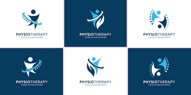 Chiropractic logo collection with creative modern concept premium vector