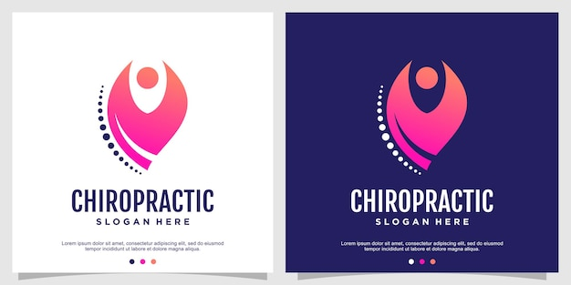 Chiropractic logo concept for health and care premium vector part 1