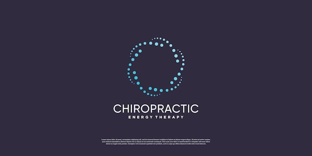 Chiropractic logo with creative element concept premium vector part 1