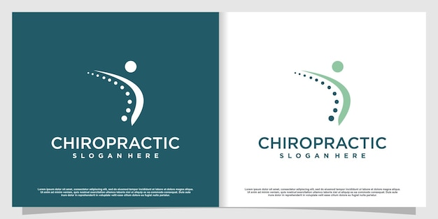 Chiropractic logo with modern style premium vector part 4