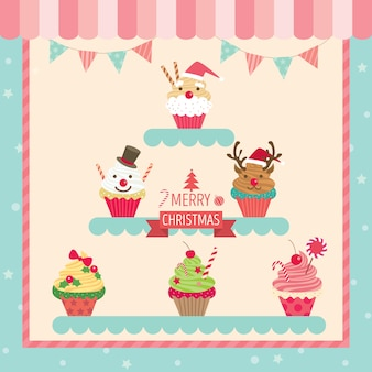 Chirstmas cupcakes cafe