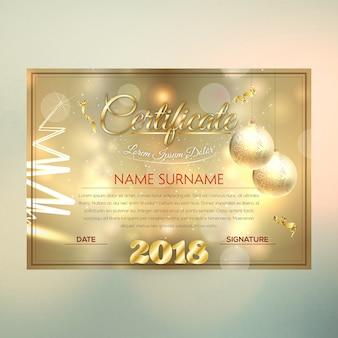 Роскошный дизайн сертификата chirstmas