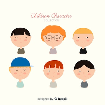 Chldren's day faces collection