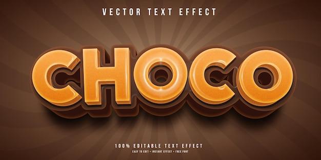 Редактируемый текстовый эффект choco