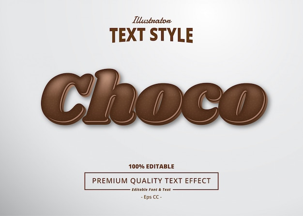 Choco text effect_2