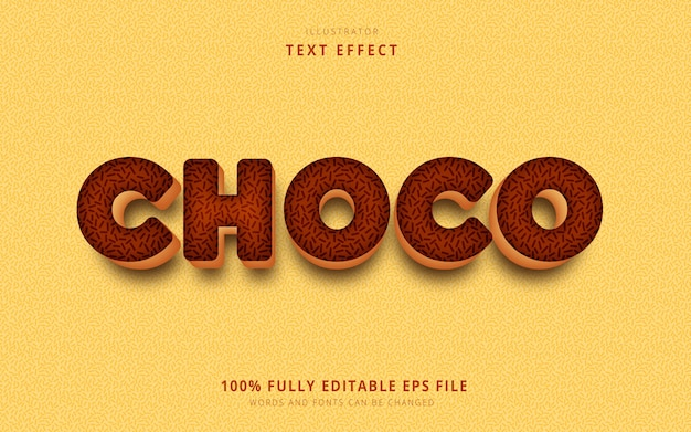 Choco text effect