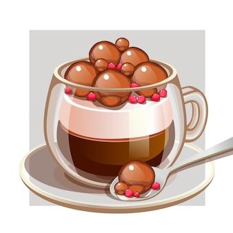Choco со сливками и кофе в формате