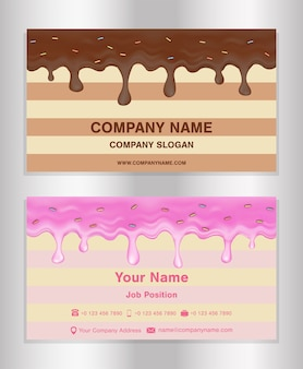 Визитная карточка шоколада и пончика