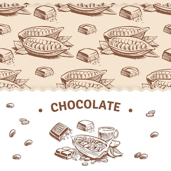 Chocolate banner template