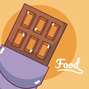 Chocolate bar concept cartoon