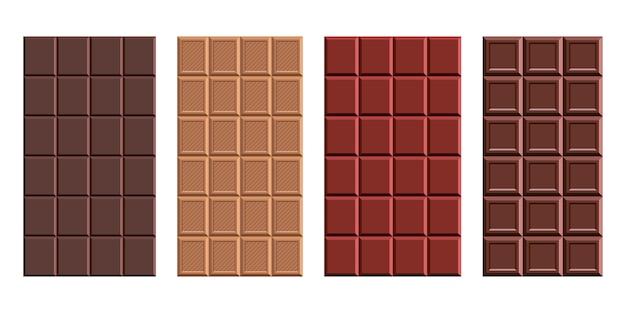 Chocolate bar  design illustration isolated on white background