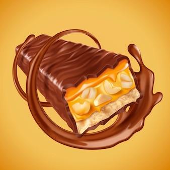 Chocolate bar element illustration